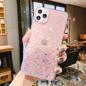Coque TPU souple de BLING Glitter pour Apple iPhone 12 / SE 2020 / 5G / 5S / 11Pro / x MAX / XS / X / XR