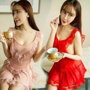 FKJl8 Frauen sexy sexy Unterwäsche Versuchung Kleidung Mädchenuniform Anzug Mesh-Dame kurz fu yong nv nv yong fuunderwear Zofe clothingskirt
