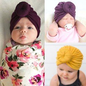 New Arrival Baby Hat Winter Soft Top Hat Cotton Soft Headband Knotted Unisex Baby Headwear Elastic Headwear Girl Boy