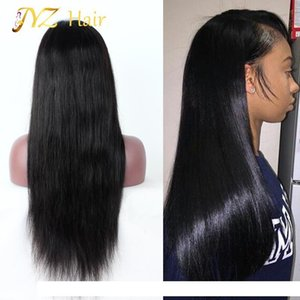 A Jyz 130 %Density Lace Front Human Hair Wigs Peruvian Virgin Hair Front Lace Wigs Straight Full Lace Human Hair Wigs For Black Women