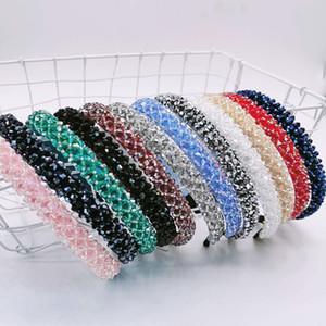 Mode glänzende Strass-Kristall-Haar-Band für Frauen Mädchen-Haar-Reifen-Mode-Haar-Zubehör Headwear 12 Farben