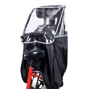 venta caliente autopropulsado bicicleta Capa bicicleta cubierta de la lluvia asiento trasero de PVC de los niños poncho protector de lluvia portátil