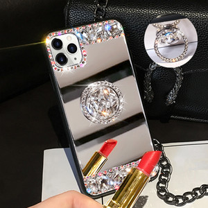 3D Acrylic Sunjolly Mirror Almer Diamond Case для iPhone 11 Pro Max XS MAX XR 8/7 PLUS 6 / 6S PLUS PLUS SE2020 Чехол для телефонов Coque Coque Fundas