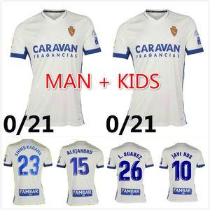 MAN KIDS 2020 2021 ريال سرقسطة بيتي كرة قدم الفانيلة 21 زباتير VAZQUEZ بومبو قميص منزل AWAY شينجي KAGAWAJERSEY FOOTBALL الرجال + الاطفال SHIRTS