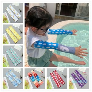 Children Protective Sleeve Outdoor Beach Palying UV Protection Cooling Arm Sleeve Sunscreen Elastic Ice Silk Arm Sleeve With Cartoon Printed