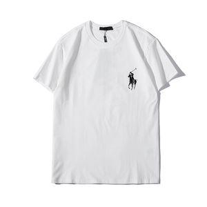 Hombres Camisetas camisetas de las mujeres del nuevo verano de manga corta camiseta para hombre de las mujeres T de Casual O-cuelloRalph T zz8 camisas de poloLauren