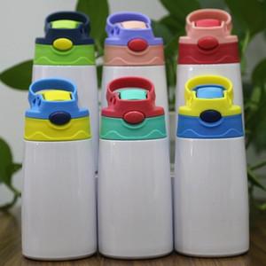 بيع الساخنة فيديكس DIY التسامي 12OZ WATTER زجاجة الفولاذ المقاوم للصدأ كأس سيبي القش كوب نوعية جيدة للأطفال مجانا الشحن