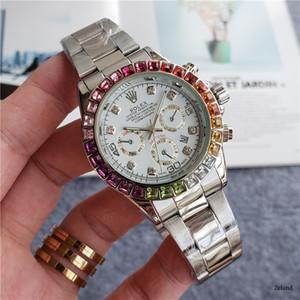 도매 남성의 럭셔리 골드 전체 스틸 스포츠 시계 컬러 다이아몬드 손목 시계 디자이너 남성 시계 MONTRES 드 럭셔리 마스터 시계 시계