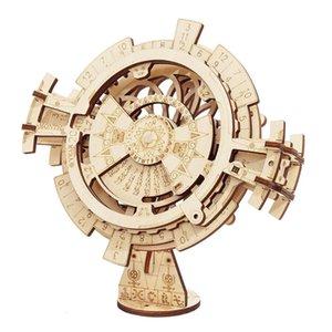 وصول Robotime جديد DIY 3D الأبدي التقويم لغز خشبي الجمعية لعبة لعبة هدية LK201 لدروبشيبينغ