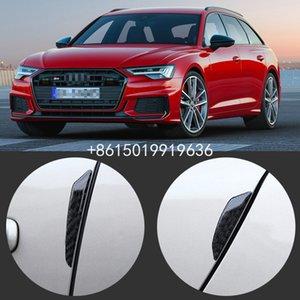 Para fibra de carbono PVC Audi S3 S4 S5 S6 S7 S8 Car Side Door Borda Guarda Bumper guarnição Protector 4pcs Adesivos