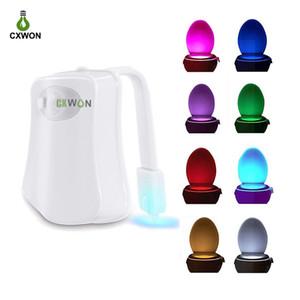 Tuvalet Işık Sensörü 8 Renkler Su geçirmez Klozet Kapağı Gece aydınlatması LED Klozet Luminaria Lambası WC Işık