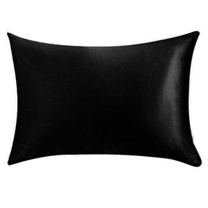 الحرير الحرير كيس المخدة الرئيسية متعدد الألوان الجليد الحرير وسادة القضية زيبر غطاء وسادة مزدوجة الوجه مغلف غطاء الفراش وسادة 20 * 26inch