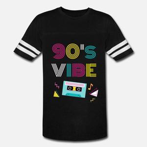90s Vibe uomini della maglietta di disegno del cotone S-3XL lettere luce solare camicia costruzione estate Outfit