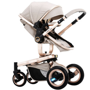 Stroller Can Sit and Lie High Landscape Four Wheel Absorption Super Wide Two-way Baby Stroller