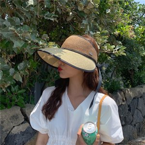 d18bV Respirant vide-Top Internet un écran solaire des femmes de soleil même style rouge grand avant-toit soleil chapeau cool cool mode été chapeau mode style coréen
