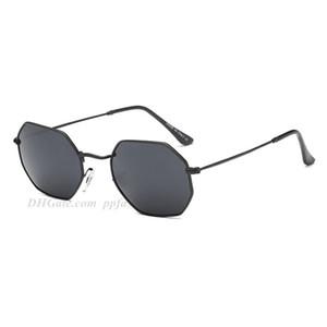 Summer Fashion Sunglasses reflexivo retro Color Film poligonal diamante Sun Glasses clássico Marca óculos grátis