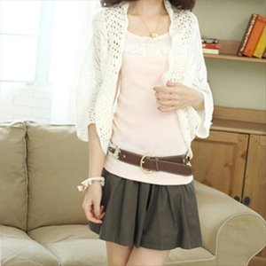 Puff Sleeve Cardigan Knitted Tops Sweater Outwear Smock Casual Air conditioned shirt hot Drop Shipping Good Quality