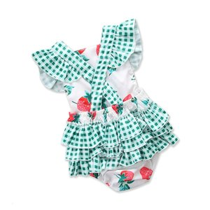Excelent Clearance newst baby dress Fashion Newborn Infant Baby Girls Romper Floral Print Lace Jumpsuit Headband Outfits Set Z0208