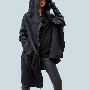 S 5XL Women Fashion Asymmetrical hem Hooded Coat Outwear Jacket Zipper Hoodie Sweats Sweatshirt Plus Drop Shipping