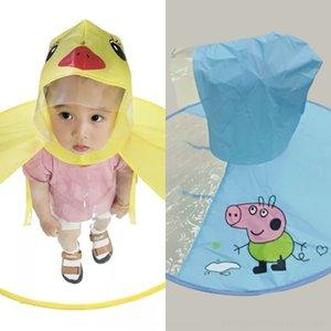 MWPGS 3kkBY Tiktok детского НЛО плащ ребенок желтый Tiktok Дети пончо маленького детского сада брезентового дождевик НЛО зонтик не одноразовый