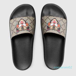 nueva flowe Hombres Mujeres diapositivas de diseño zapatos de verano plano ancho resbaladizo sandalias del deslizador del flip-flop 35-45 CO02