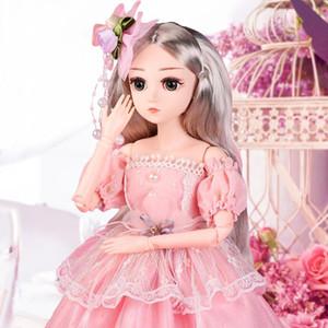 BJD Puppe 1/4 DIY Puppen 18 Kugelgelenk-Puppe mit Kleidung Outfit Schuhe Perücke-Haar-Make-up-besten Geschenk für Mädchen Geburtstag (BUY 1 GET 1 FREE)