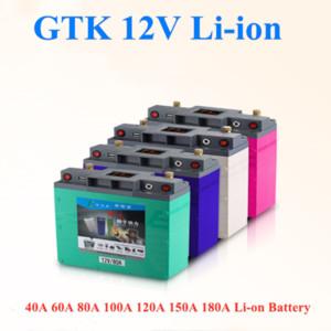 GTK lítio 12v alta capacidade 40ah60ah80ah100ah120ah 150AH 180Ah poder li-ião de lítio + carregador 5A