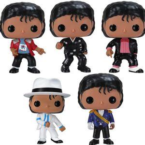 Michael Jackson Birthday BILLIE Anime Figure Vinyl BEAT IT JEAN Model Gift Dolls Collection Cartoon Figure Kids Toys Boy Action BAD Cqxil