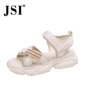 JSI sandálias mulher microfibra superior cruz de design banda sandálias arco mulher apoio sola de sapatas de passeio jh16