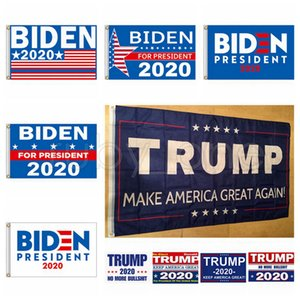 Joe Biden Trump 2020 Flag Brief Unterstützung Oppose Joe Biden Präsident USA 90 * 150cm Big Hanging Trump 2020 Flying Flag 10 Styles RRA3536