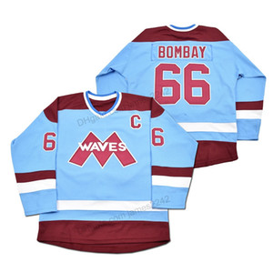 Barato al por mayor a 66 Gordon Bombay Gunner Stahl Mighty Ducks Waves Jersey del hockey cosidas Tamaño 2XS-2XL 3XL 4XL 5XL 6XL Cualquier Número Nombre