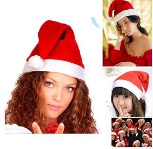 Babbo Natale Cappelli e cappelli rossi White Cap partito per la decorazione Babbo Natale costume di Natale per i bambini il cappello di Natale per adulti