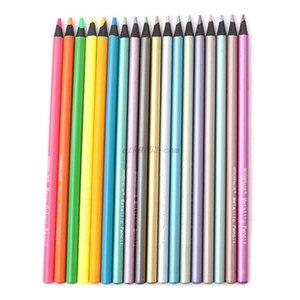 그리기 스케치 Y200709에 대한 12PCS 금속 비 독성 컬러 연필 + 6 형광 컬러 연필