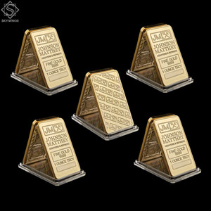 5PCS UK London Replica Fine Gold 999 1 Ounce Troy Johnson Matthey Assayer& Refiners Bar Coin Collectible