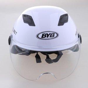 Motorcycle Helmet 1 2 Open Face Outdoor Sport Equipment White