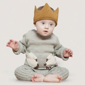 A maglia Corona Moda Colori di Little Lord disegno bello Aprire Cap Top Style caldo di vendita dei capretti del cappello 43-48cm Dimensioni all'ingrosso