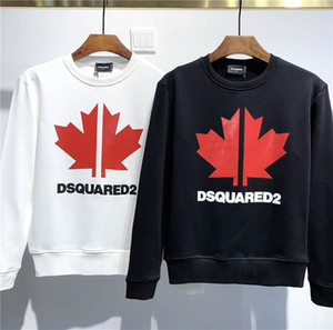 DSQUARED2 DSQ2 2020 وصول جديدة أعلى جودة D2 العلامة التجارية مصمم ملابس رجالية شارع هوديس وبلوزات كم طويل M-3XL DS316