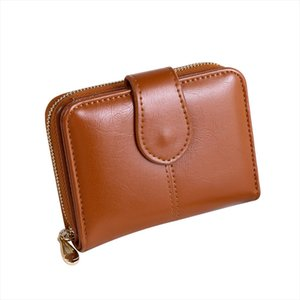 Vintage Faux Leather Women Wallet Small Card Holder Short Purse Christmas Gift Drop Shipping High quality
