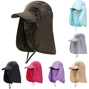 Fishing Caps Hiking Camping Visor Hat UV Protection Face Neck Cover Fishing Sun Protect Cap Vissende Fisherman Hat Summer Sunscreen Hat XY6B
