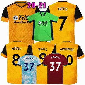 2020 2021 ADAMA J.MOUTINHO NETO RAÚL J.OTTO Podence NEVES Semedo Wölfe Fußball-Trikots zu Hause 20 21 T-Shirt Männer + Kids Fußball-Kit entfernt