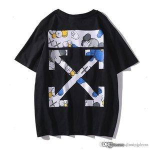 Мужчины тенниска способ лета вскользь стираться черным белее с коротким рукавом рубашка хлопка Unisex женской печатного Tops тройники S-XXL
