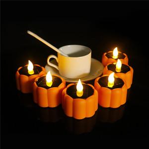 Halloween Pumpkin Lamp Candele senza fiamma elettronica della candela Casa da bar Possibilità per Halloween LED Candela della decorazione lampeggiante DHB1720