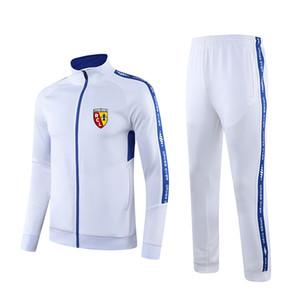 RC Lens F.C costume de golf de survêtement de sport de soccer tissu de santé des ensembles de formation en plein air autour du cou des vêtements confortables