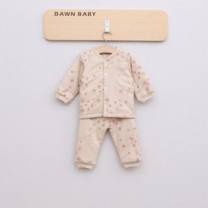 오가닉 코튼 아기 겨울 장난 꾸러기 세트 아기 소년 소녀 긴 소매 어린이 속옷 의류 점퍼 아동 의상 의류