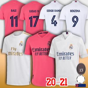 20 21 Gerçek 4 Sergio Ramos Madrid Futbol Jersey Tehlike 12 Marcelo Modric Benzema Jovic Kroos Balya Asensio'daki Camiseta de Fútbol Erkekler çocuk gömlek