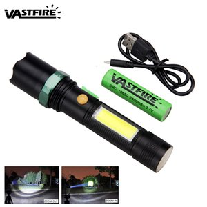 10W Flashlamp 4 Mode Zoom T6 COB LED Flashlight USB Rechargeable 18650 Battery Torch Light Magnet Adsorption Lamp
