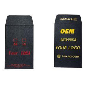 OEM Мини-конверты на заказ Полноцветная печать золотой фольги Логотип Shatter Малый монет Конверты Пользовательские Shatter Конверт Упаковка Конверты бумажные