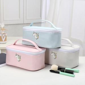 Bolsas Unicorn Cosmetic Bag Ladies grande capacidade Makeup Bag Organizador Para Mulheres de Higiene Pessoal Travel Bag Kits Esteticista armazenamento