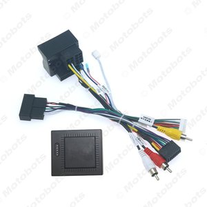 Car 16pin Audio Wiring Harness With Canbus Box For Great Wall Hover H9 DVD Player Installation Wire Adapter #6607