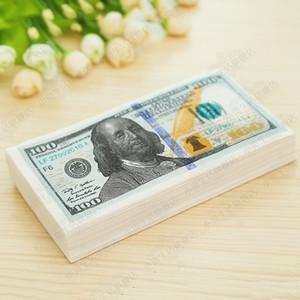 Faux argent Dollar Impression couleur créatif papier serviette Simulation 11 Dollar papier Banknote serviette Coin visage serviette papier B179